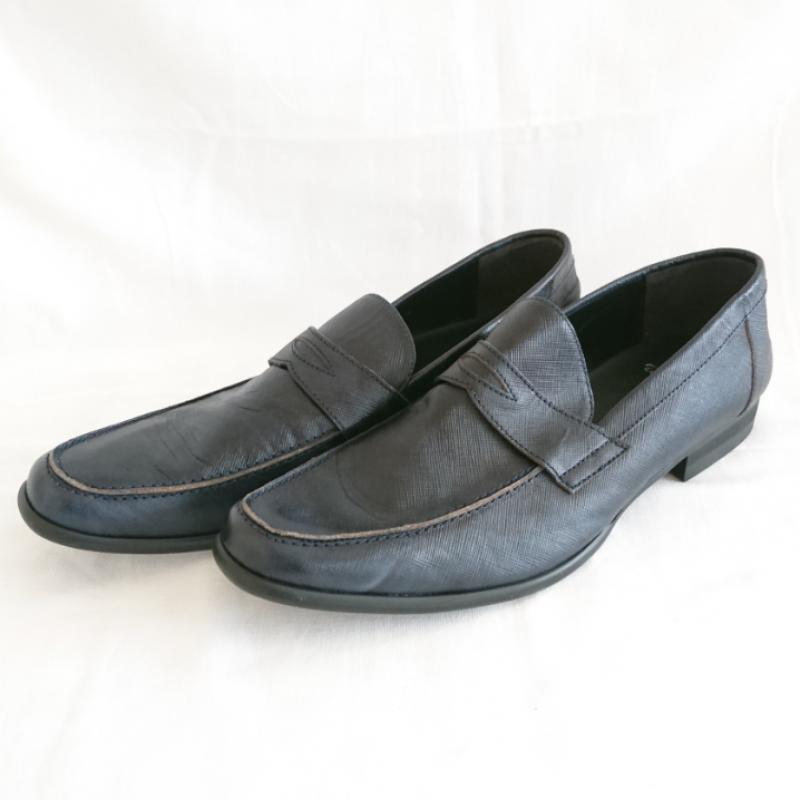 トルネードマート TORNADO MART 表記サイズ:M 黒 ブラック 売れ筋ランキング 与え 無地 Shoes USED 中古 古着 10009121 革靴 Leather