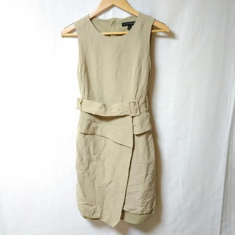バナナリパブリック 入手困難 BANANA REPUBLIC 表記サイズ:0 ベージュ 無地 ひざ丈スカート ワンピース 中古 古着 激安卸販売新品 Medium 10009722 Skirt One-Piece USED