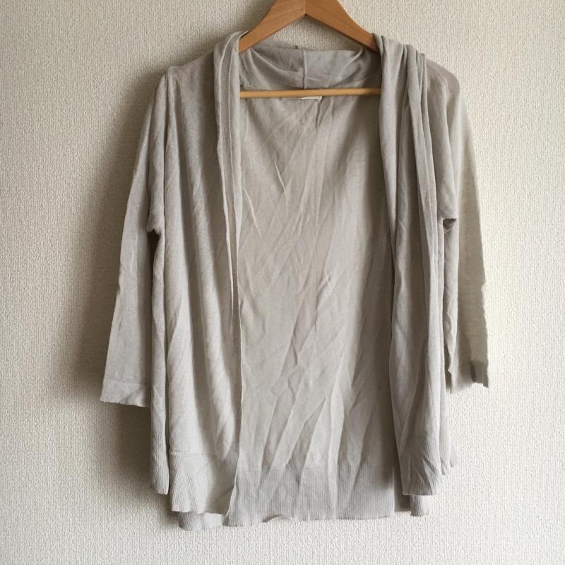 ショコラ フィネ ローブ chocol raffine robe 表記サイズ:FREE 灰 七分袖 カーディガン グレー 激安特価品 USED 超目玉 無地 古着 10009906 中古
