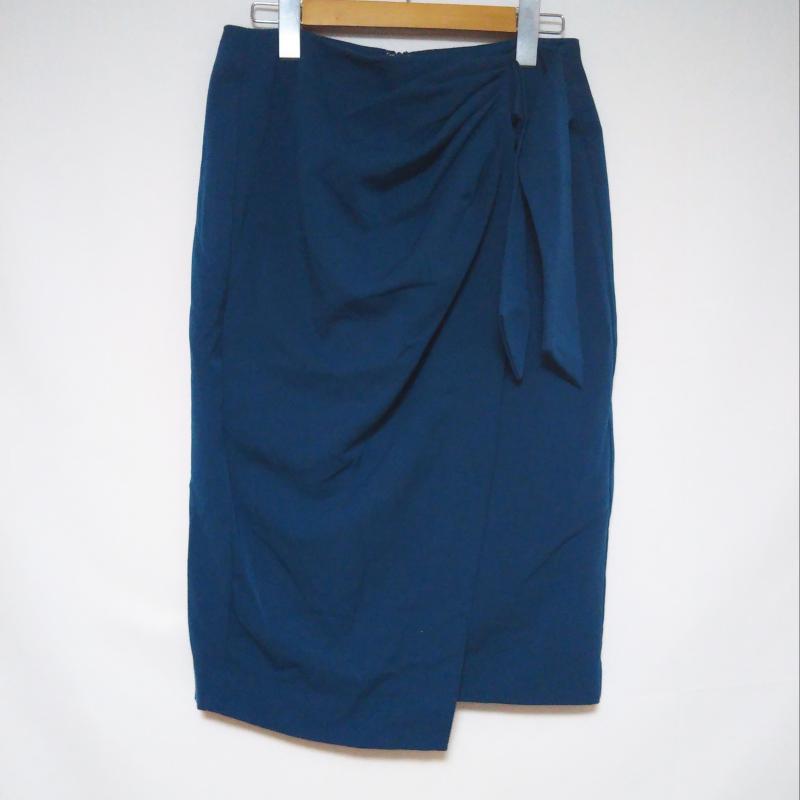 ルゥデルゥ Rew de 表記サイズ:M 青 ブルー 無地 ひざ丈スカート ※アウトレット品 古着 中古 10009967 スカート USED 誕生日プレゼント