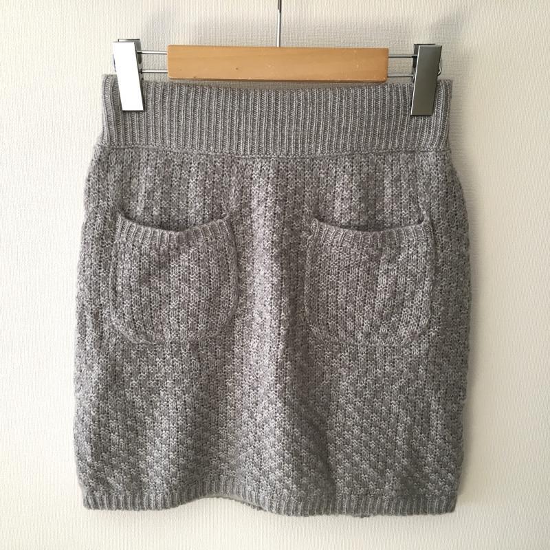 ダズリン dazzlin 表記サイズ:FREE 灰 グレー 低価格化 マート 無地 ミニスカート 中古 ニットスカート USED 10011293 スカート 古着