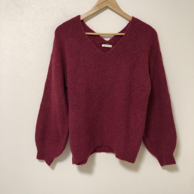 スタディオクリップ studio CLIP 表記サイズ:L 赤 驚きの値段で レッド 無地 10012870 上質 中古 長袖 USED 古着 セーター ニット