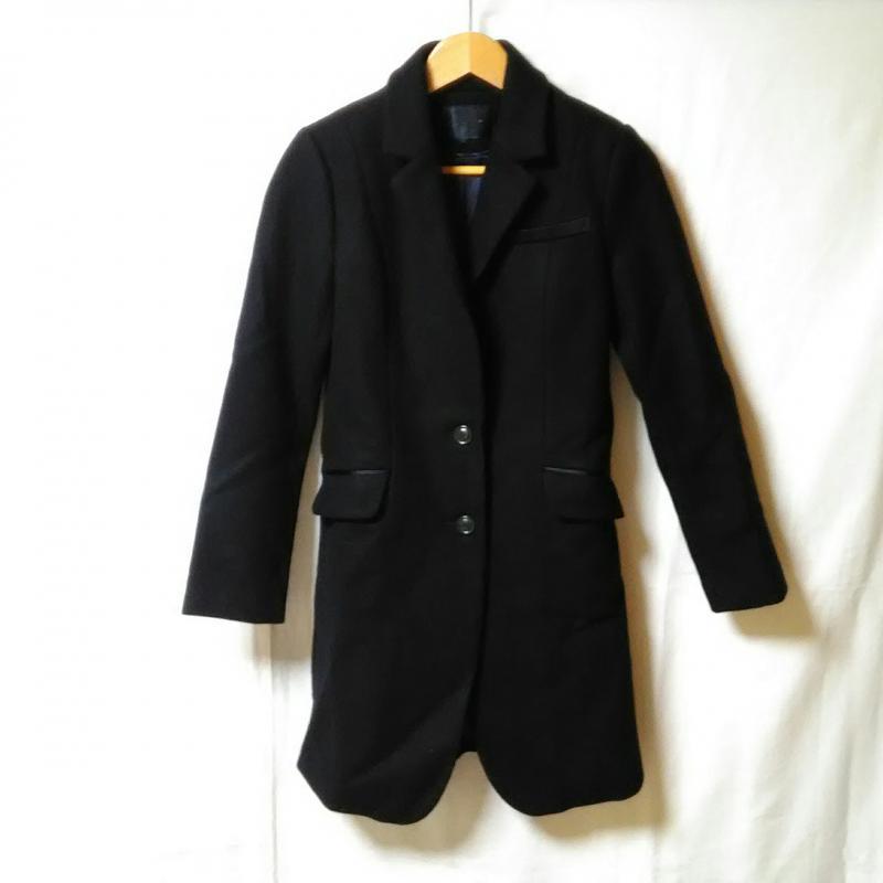ボルニー BORNY 表記サイズ:S 黒 ブラック 無地 日本 コート一般 古着 10013162 USED Coat 中古 コート お得クーポン発行中