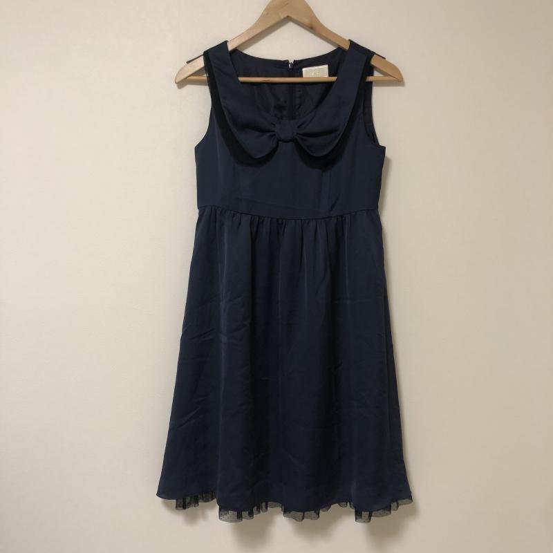 エフデ ef-de 表記サイズ:表記無し 藍 ネイビー X 黒 ブラック USED 古着 ストアー 中古 10013373 その他 ワンピース AL完売しました。 無地 ひざ丈スカート