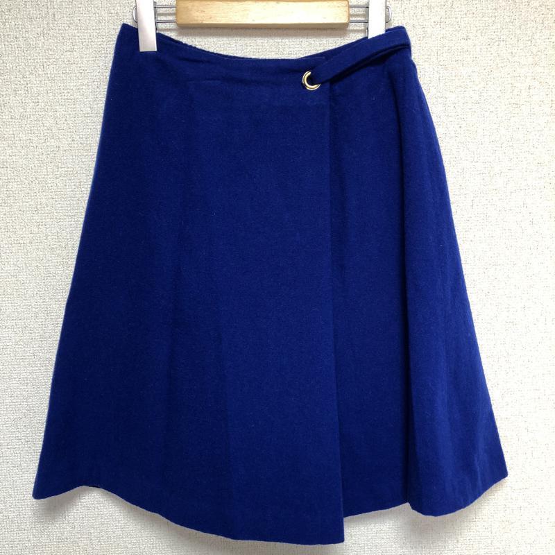 イノウェーブ innowave 表記サイズ:1 安心と信頼 青 ブルー お金を節約 無地 USED 中古 ひざ丈スカート スカート 古着 10014445