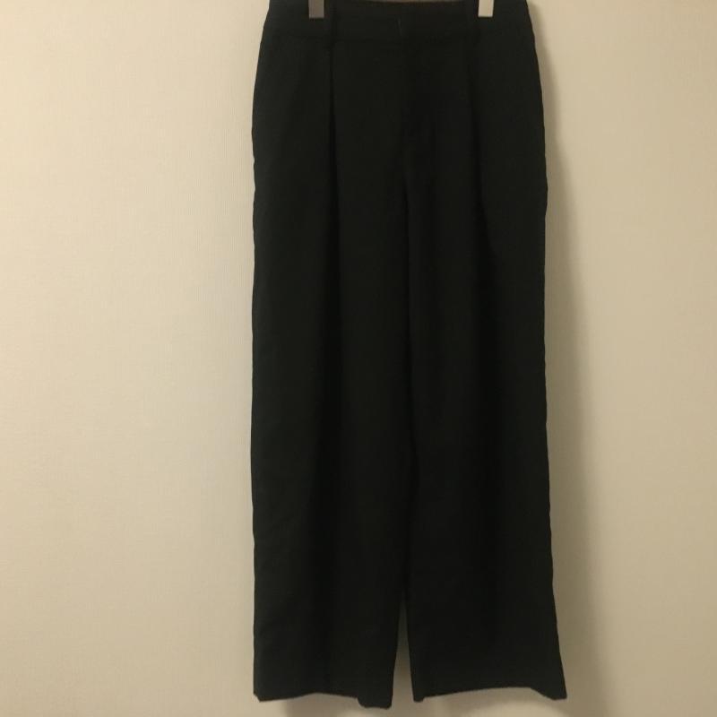 ローリーズ ファーム LOWRYS FARM 表記サイズ:FREE 黒 ブラック 無地 スラックス 大幅値下げランキング 古着 10014550 中古 パンツ USED ワイドパンツ Slacks Pants 価格 交渉 送料無料 Trousers