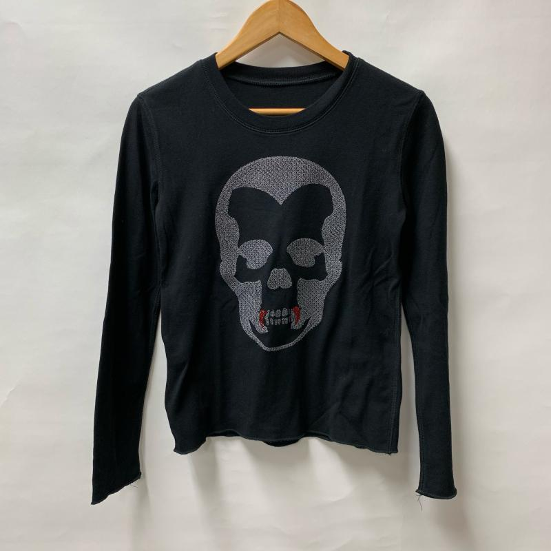 Lucien Pellat-Finet ルシアンペラフィネ 長袖 Tシャツ スカル 刺繍 スワロ【USED】【古着】【中古】10014638