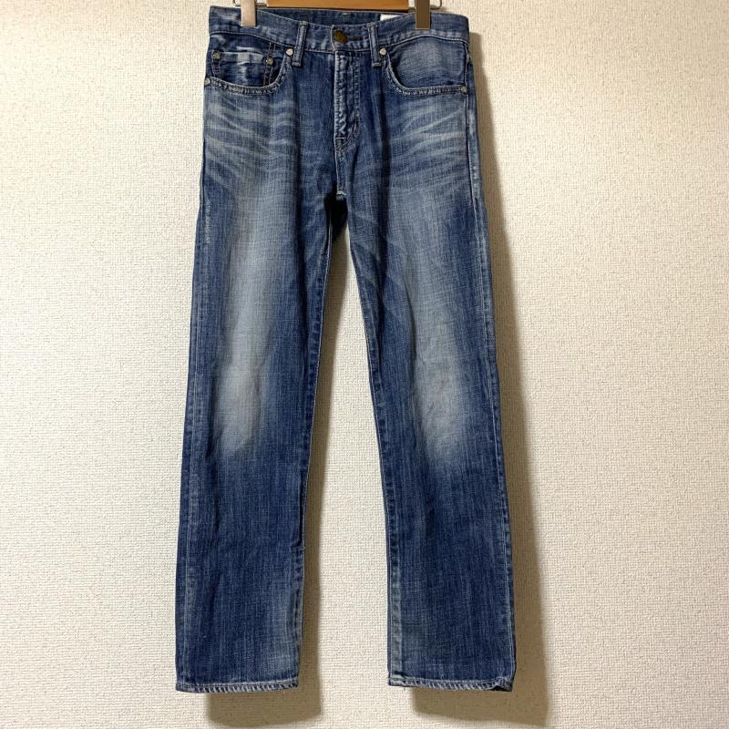 アントゲージ ANTGAUGE 表記サイズ:S インディゴ 無地 X ダメージ加工 評判 デニム ジーンズ パンツ 10014929 Jeans Denim USED 古着 Trousers 中古 予約販売品 Pants