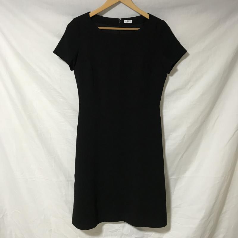 プラステ PLST 表記サイズ:M 黒 ブラック 無地 爆買い送料無料 ひざ丈スカート ワンピース One-Piece 古着 高級な 中古 Skirt USED Medium 10015004