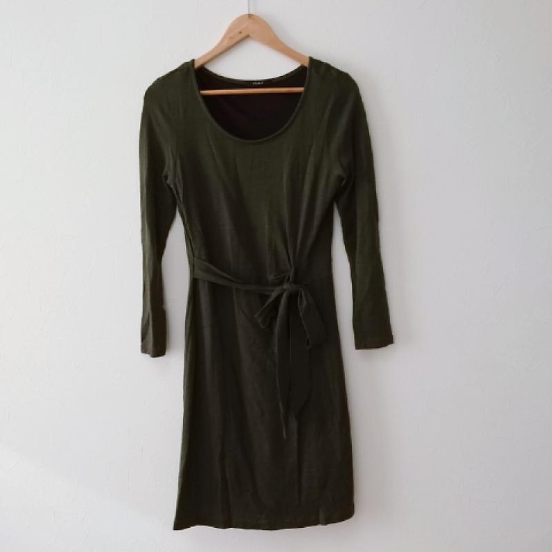 タイムセール ルール RULe 表記サイズ:L 緑 グリーン 無地 ひざ丈スカート 品質保証 ワンピース 10016580 Skirt 中古 古着 One-Piece Medium USED