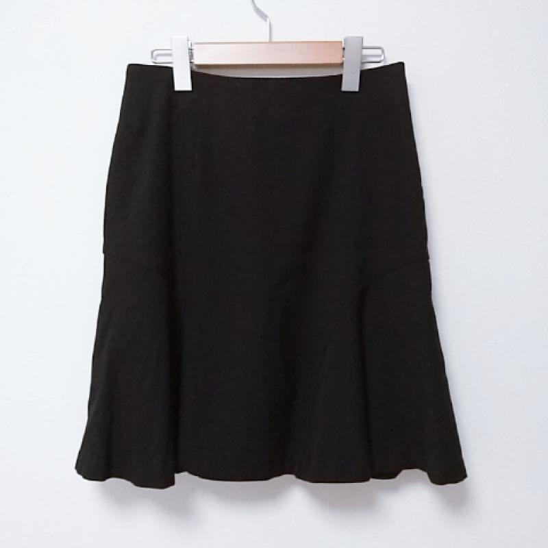 エンネア 正規販売店 Ennea 表記サイズ:38 黒 ブラック 無地 ひざ丈スカート ランキング総合1位 中古 スカート USED 10017433 Medium 古着 Skirt