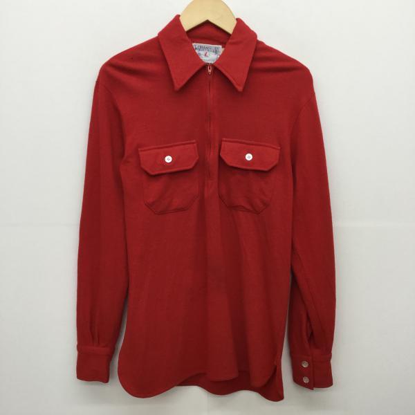 スピンネーカー THE SPINNAKER SHIRT 表記サイズ:M 赤 レッド シャツ 期間限定 ブラウス 無地 国産品 USED 古着 10018685 中古