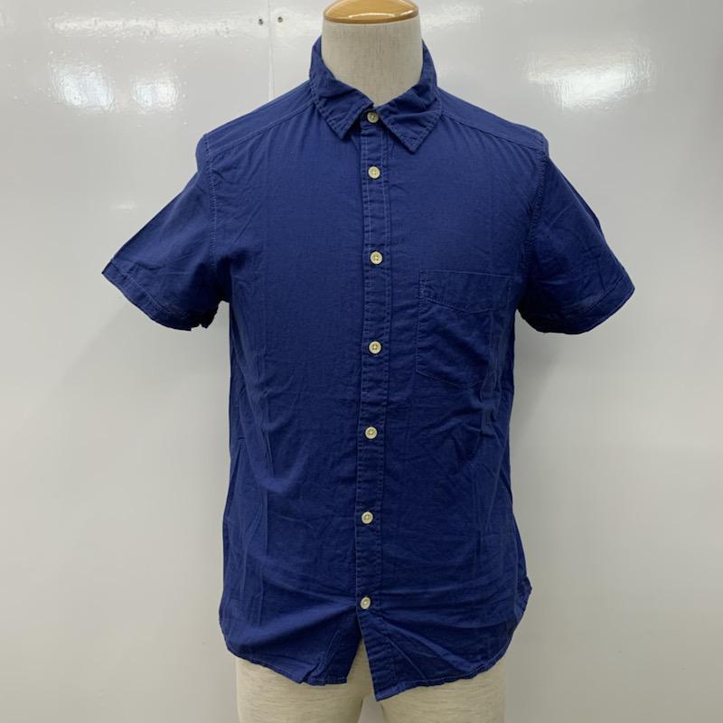 ヘンネスアンドモーリッツ HM 表記サイズ:XS 青 2020新作 ブルー 無地 シャツ 人気ブランド多数対象 USED 10023753 ブラウス 中古 古着 半袖シャツ