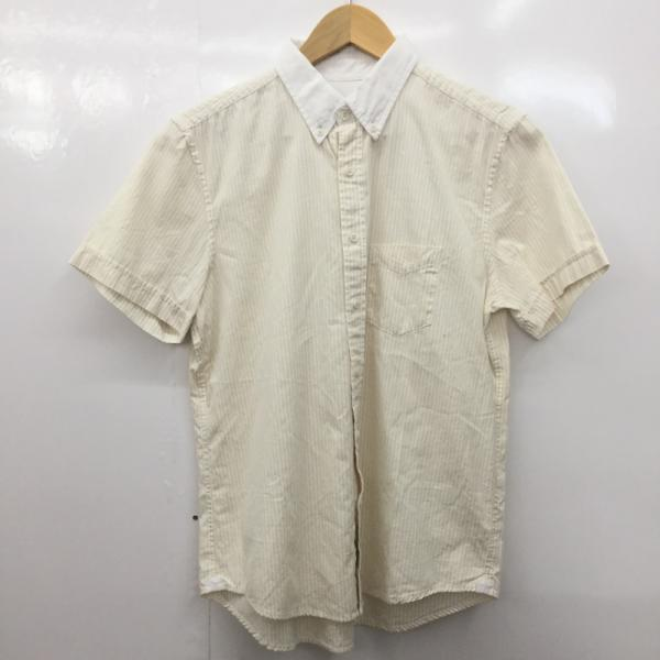 返品不可 ジュンレッド JUNRed 表記サイズ:0 ストライプ シャツ ブラウス 公式サイト 10024609 古着 USED 半袖シャツ 中古