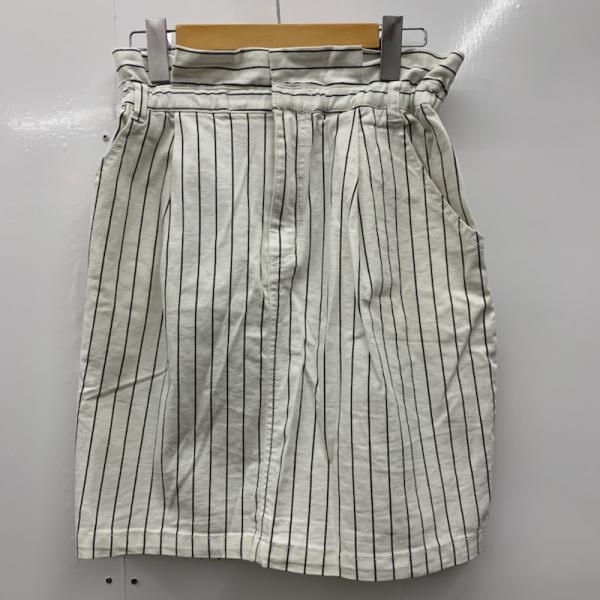 ヘザー Heather 表記サイズ:M 白 ホワイト ストライプ USED 中古 10024897 スカート 古着 別倉庫からの配送 日本未発売