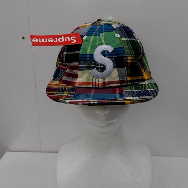 シュプリーム Supreme 表記サイズ:表記無し ファッション小物 キャップ 期間限定の激安セール 帽子 Patchwork Madras 古着 cap USED Logo 10025475 S モデル着用 注目アイテム 中古