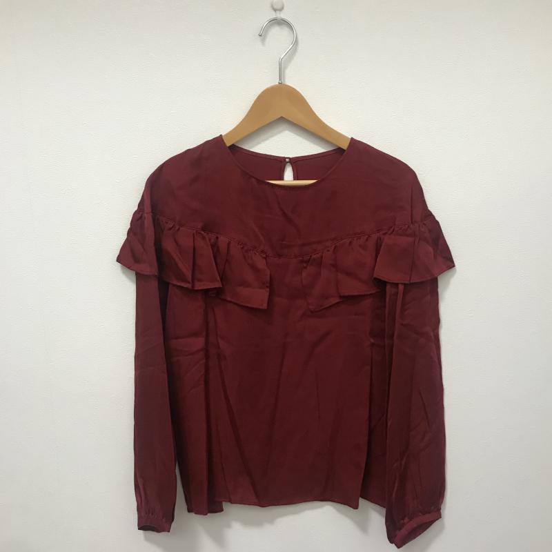 シードレイク 新作からSALEアイテム等お得な商品満載 Seadrake 表記サイズ:38 赤 レッド 無地 長袖 シャツ ブラウス Blouse Shirt USED 10028375 中古 驚きの値段 古着