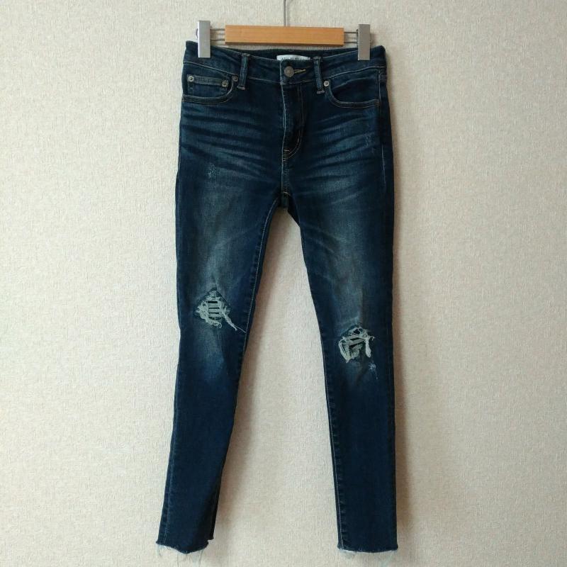 アズールバイマウジー AZUL BY MOUSSY 表記サイズ:表記無し インディゴ ダメージ加工 デニム ジーンズ 5%OFF Denim パンツ 中古 Pants 10029287 Jeans Trousers USED メーカー直送 古着