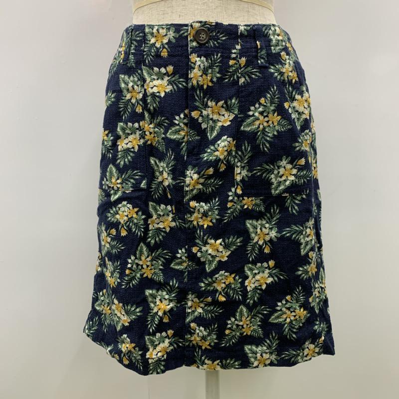 ビームス ハート BEAMS HEART 表記サイズ:表記無し デポー 紺 ネイビー 総柄 ミニスカート 中古 スカート 10030856 Skirt 古着 Short Mini 超安い USED