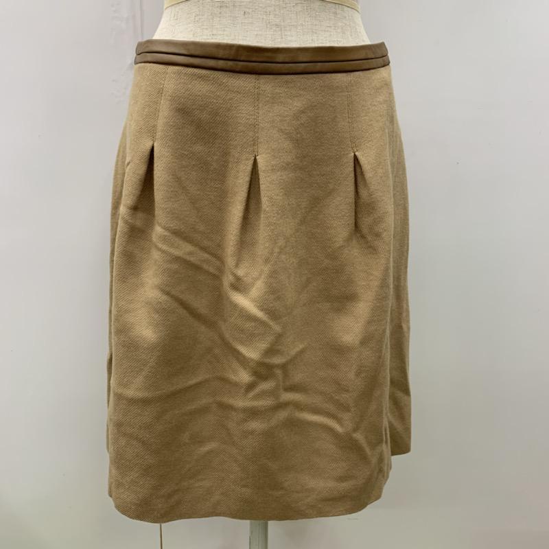 アンタイトル UNTITLED 表記サイズ:2 キャメル 無地 ひざ丈スカート スカート 台形スカート 古着 SALE開催中 Medium ご予約品 中古 10032155 USED Skirt