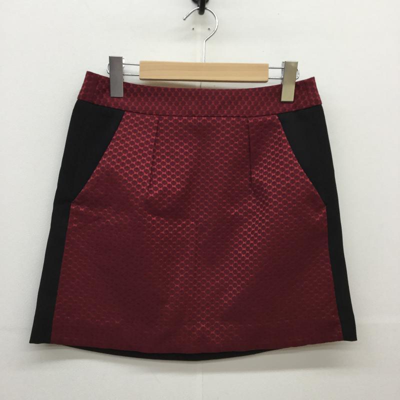 ロペピクニック ROPE' PICNIC 表記サイズ:38 黒 ブラック X 赤 レッド 高額売筋 総柄 Short USED 10035939 スカート 《週末限定タイムセール》 中古 古着 Skirt Mini ミニスカート