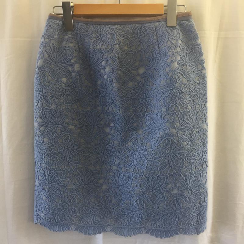 アプワイザー リッシェ Apuweiser-riche 日本産 表記サイズ:2 青 ブルー 花柄 ミニスカート USED Mini スカート 中古 アウトレット☆送料無料 Short 10036505 Skirt 古着