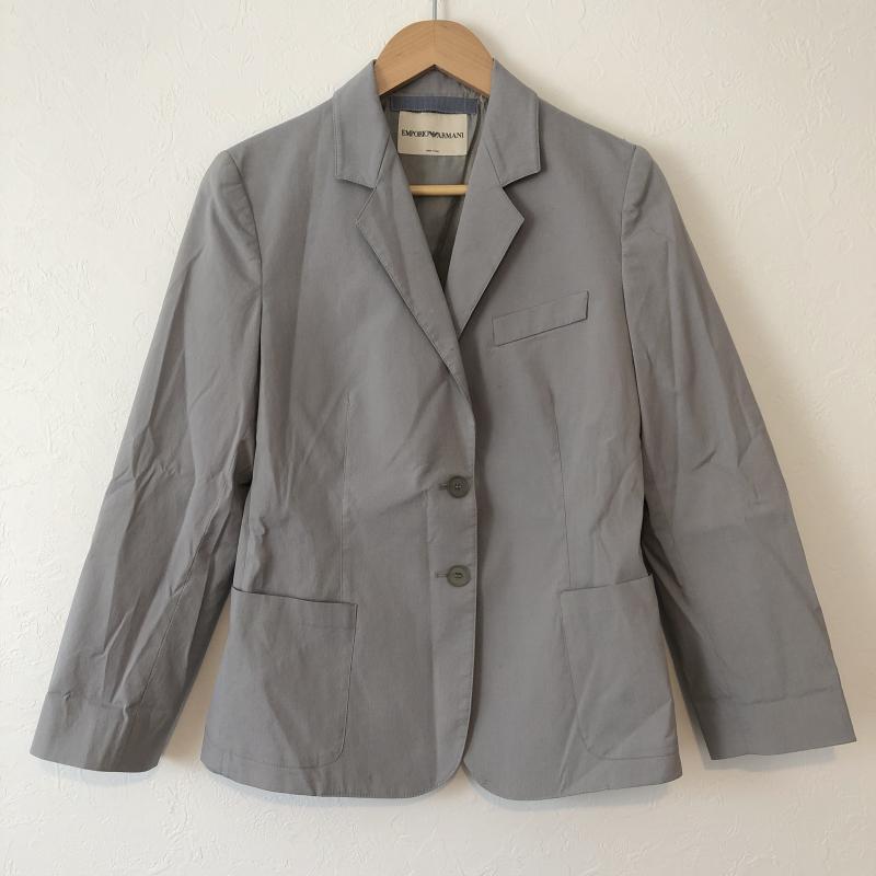エンポリオアルマーニ 格安 価格でご提供いたします EMPORIO ARMANI 表記サイズ:40 灰 グレー 無地 高価値 ジャケット USED 中古 古着 上着 10036526 ブレザー Jacket