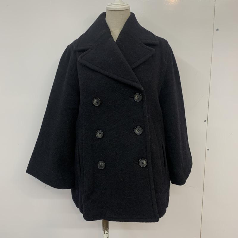 ジーナシス JEANASIS 表記サイズ:FREE 実物 好評 黒 ブラック 無地 ピーコート 中古 10041524 古着 Coat コート USED