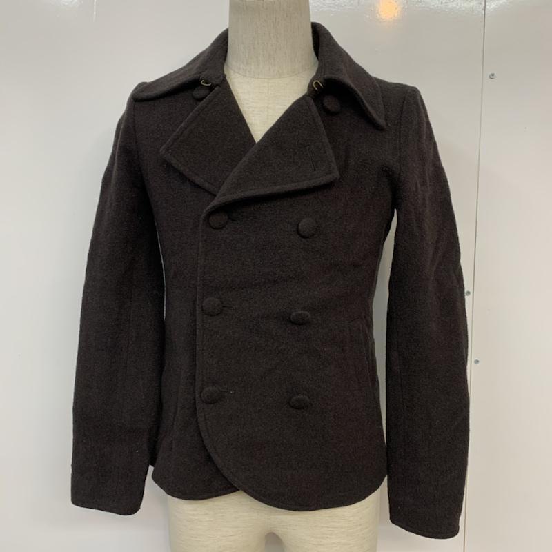 プレッジ Pledge 表記サイズ:46 ダークブラウン 買い取り 無地 新色追加して再販 ピーコート 10042317 USED コート 中古 古着 Coat