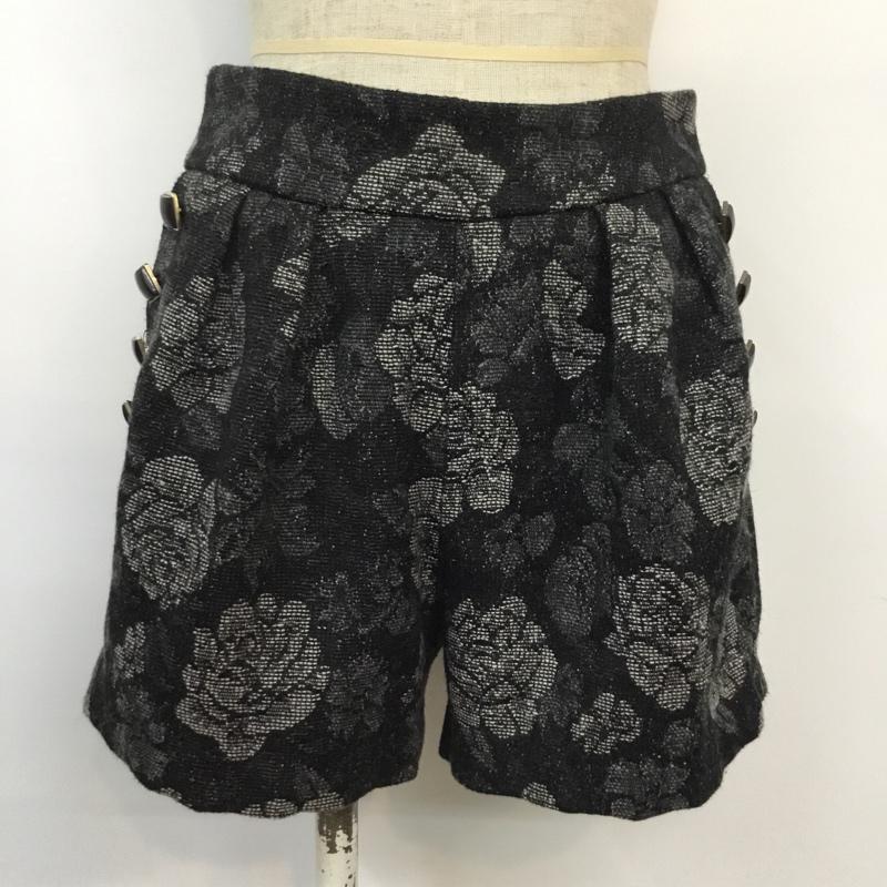 ローズバッド ROSE BUD 表記サイズ:26インチ 黒 ブラック 総柄 大幅値下げランキング ショートパンツ パンツ 古着 10043458 Short USED Trousers Shorts 新商品 新型 中古 Pants