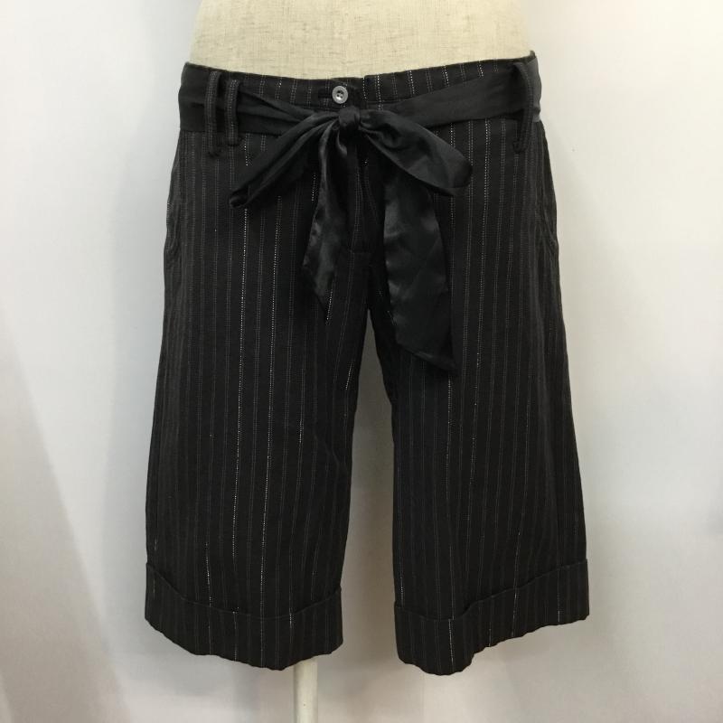 当店限定販売 ロペピクニック ROPE' PICNIC 表記サイズ:38 チャコールグレー ストライプ ショートパンツ パンツ USED 中古 10044651 古着 Shorts 爆買いセール Pants Trousers Short