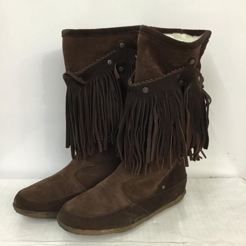 ディーゼル DIESEL 表記サイズ:24.0cm 茶 ブラウン 無地 一般 ブーツ Boots BOOTFULL W 箱無 USED 驚きの値段 10045043 古着 中古 2WAY フリンジ 24cm スエード ☆最安値に挑戦