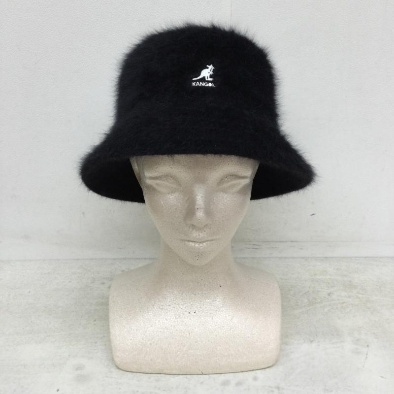 カンゴール 新作製品、世界最高品質人気! KANGOL 表記サイズ:表記無し 黒 ブラック ロゴ 文字 品質保証 ハット 帽子 中古 Hat 10046812 Furgora Bucket 古着 K3477 USED