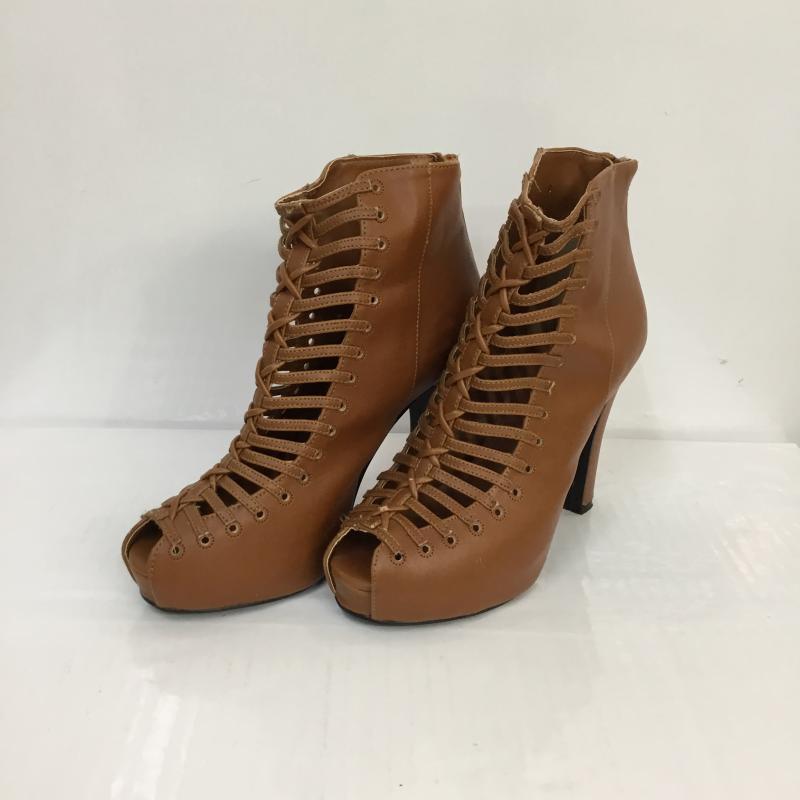 スライ SLY 表記サイズ:S 茶 ブラウン 無地 サンダル Sandals 中古 古着 全商品オープニング価格 USED 10048067 ブーツ グラディエーター 売り出し ヒール