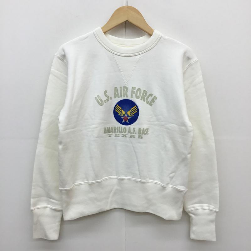 超安い アヴィレックス AVIREX 表記サイズ:38 白 ホワイト ロゴ 文字 優先配送 長袖 トレーナー 10049844 古着 USED Sweat 中古 Sweatshirt
