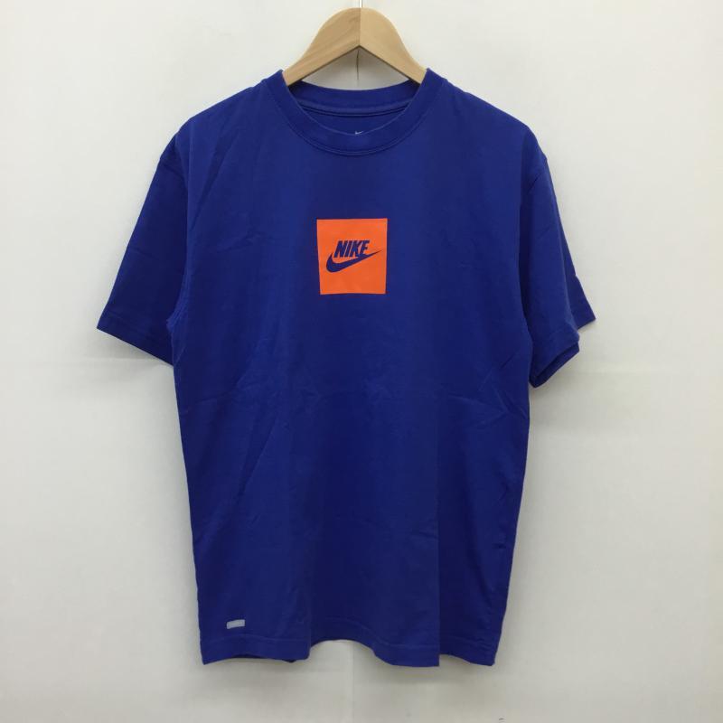 ナイキ NIKE オンラインショッピング 表記サイズ:M 青 ブルー X 橙 オレンジ ロゴ 文字 日本全国 送料無料 Tシャツ 古着 半袖 中古 10050310 スウォッシュ Shirt USED T DRI-FIT