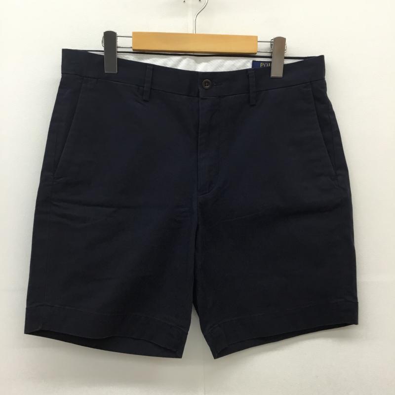 ポロラルフローレン POLO RALPH LAUREN 表記サイズ:M 新商品 紺 ネイビー ショートパンツ パンツ Pants 供え USED 中古 Short 10051576 Trousers 古着 Shorts
