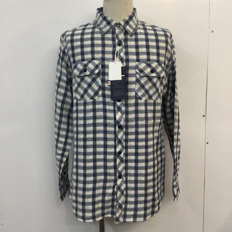 ベイフロー BAYFLOW 表記サイズ:L マルチカラー チェック 長袖 シャツ ブラウス Shirt タグ付 古着 中古 USED Blouse ガーゼチェックシャツ 10051776 プレゼント 1着でも送料無料