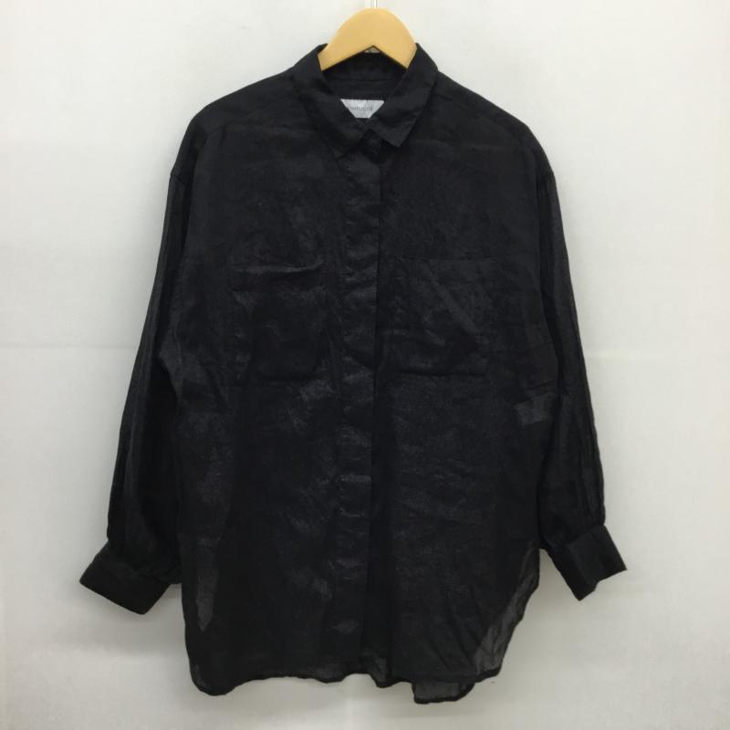 シンプリシテェ Simplicite 表記サイズ:表記無し 黒 ブラック 長袖 シャツ 中古 贈物 ブラウス Blouse Shirt 古着 10051943 USED 送料0円