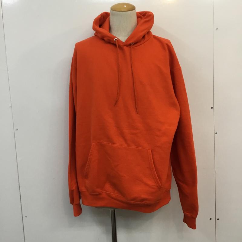 チャンピオン Campion 表記サイズ:L 橙 オレンジ 無地 長袖 パーカー 正規激安 中古 USED 希望者のみラッピング無料 Sweatshirt 10052000 Hooded Hoodie 古着