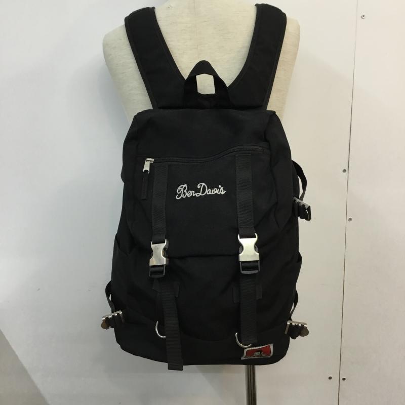 ベンデイビス BEN DAVIS 表記サイズ:表記無し 黒 ブラック ロゴ 文字 リュックサック デイバッグ デイパック ワンポイント 古着 Day 人気の製品 USED 10052200 刺繍 Knapsack バックパック Backpack 爆安 中古 Pack
