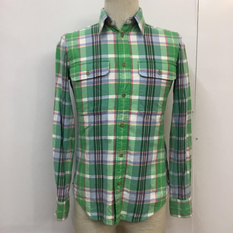 ラルフローレン RALPHLAUREN 表記サイズ:4 マルチカラー チェック 長袖 シャツ 無料サンプルOK 古着 USED Shirt 10054325 中古 Blouse 物品 ブラウス
