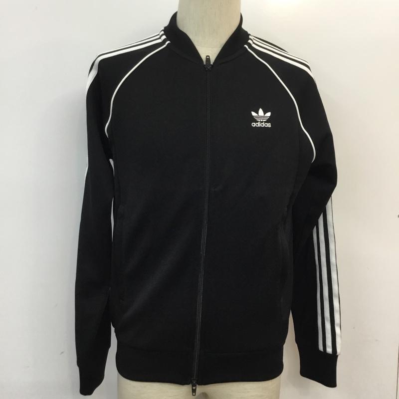 アディダス adidas 表記サイズ:表記無し 黒 百貨店 ブラック 無地 ジャンパー ブルゾン Jacket USED 上着 在庫限り ジャケット 古着 10054422 中古