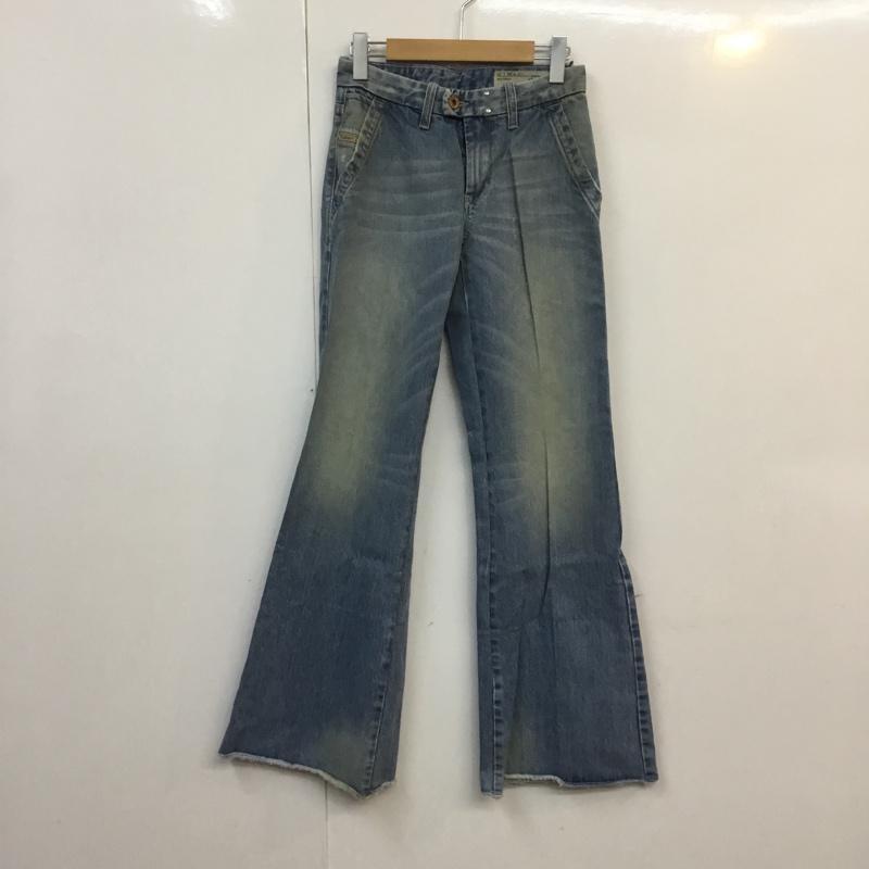 ディーゼル DIESEL 未使用 表記サイズ:表記無し 水色 ライトブルー 無地 デニム ジーンズ パンツ 商店 Pants Trousers 0888Z Jeans ワイドパンツ USED 古着 Denim 中古 10055319 W23L32 FLAIRLEGG