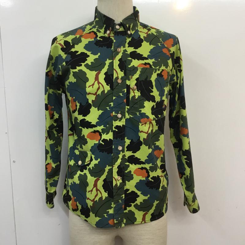 ゴースローキャラバン go slow caravan 表記サイズ:1 マルチカラー 総柄 長袖 マーケティング シャツ USED 卸売り ブラウス ボタンダウンシャツ Blouse Shirt 古着 10056470 中古
