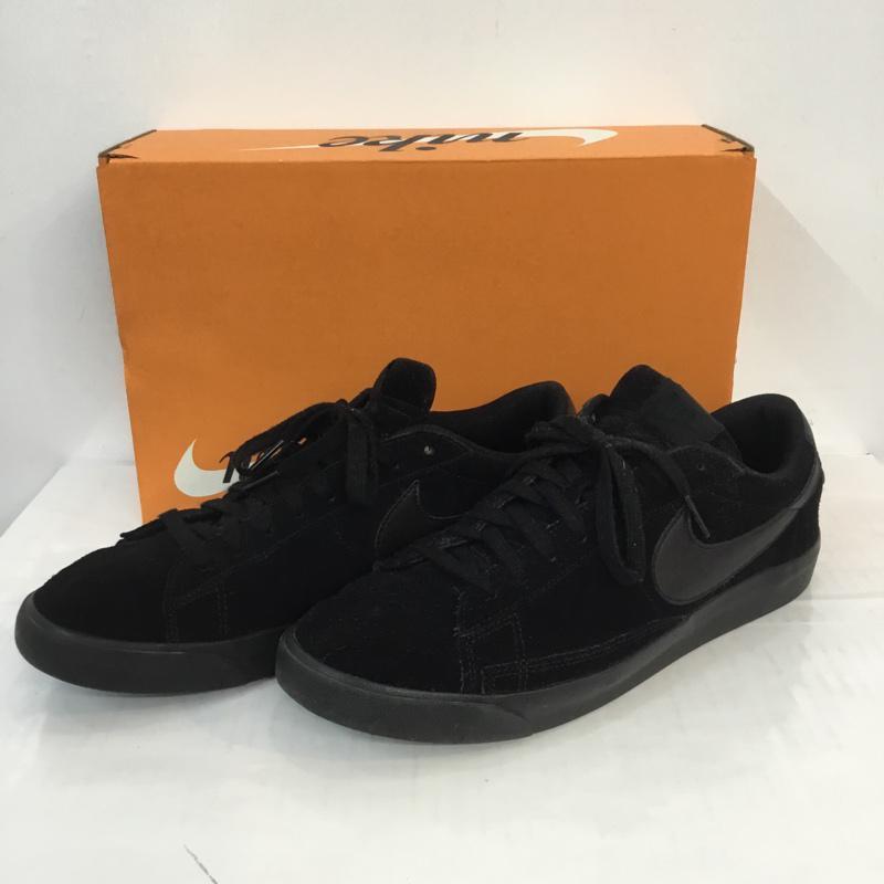 ナイキ NIKE 表記サイズ:28.0cm 黒 ブラック ロゴ 文字 スニーカー Sneakers AQ3597-001 BLAZER 実物 28cm ブレザー 古着 箱有 USED 10057150 商い ロー LE LOW 中古
