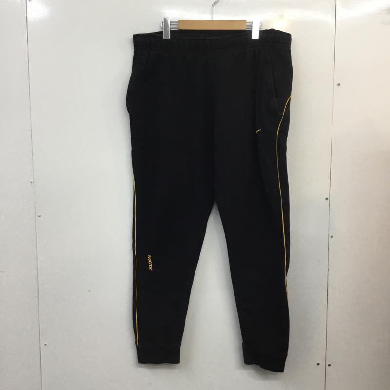 ナイキ 低廉 NIKE 激安通販販売 表記サイズ:XL 黒 ブラック ロゴ 文字 サルエルパンツ パンツ Pants Trousers NOCTA Drop DA3935-010 フリース USED 中古 Crotch 古着 10057206 Sarrouel