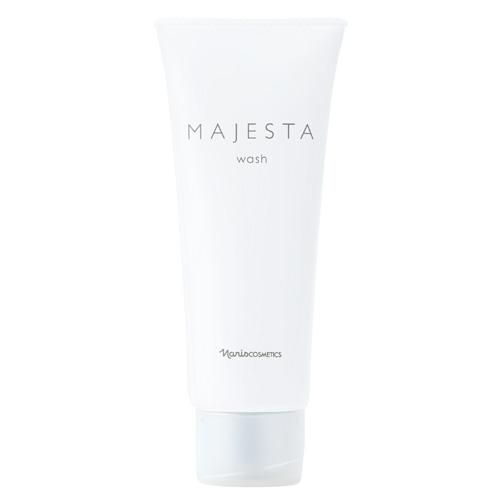 ホイップのような濃密泡が 新作通販 半額 朝のベタツキをすっきり落とします ナリス化粧品 マジェスタ 洗顔料 ウォッシュ 100g