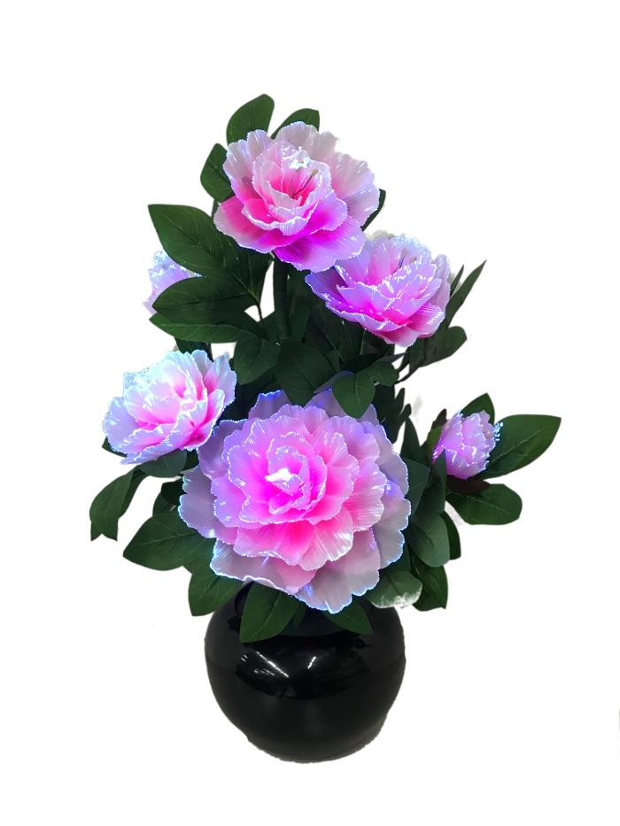 盆提灯 盆ちょうちん ルミナス グランドルミナス ボタン花 STDタイプ コード式LED 高さ約40cm 初盆 新盆 蓮華灯 お盆 提灯