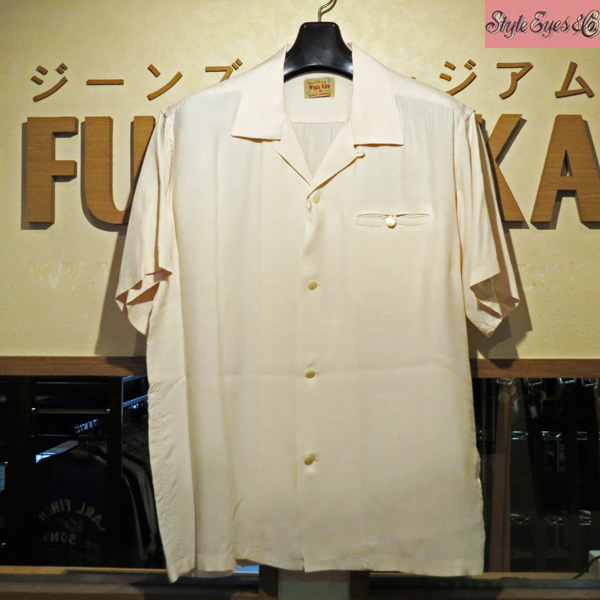 新作【Style Eyes(スタイルアイズ)】PLAIN レーヨンボーリングシャツ 【SE38368】105番色(オフホワイト)【ボウリングシャツ】【東洋エンタープライズ】